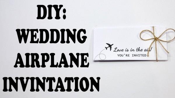 Diy  Airplane Wedding Invitations 2016