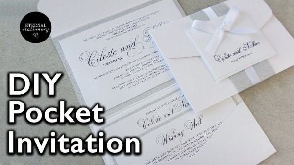 How To Make Your Own Modern Pocket Folio Wedding Invitations