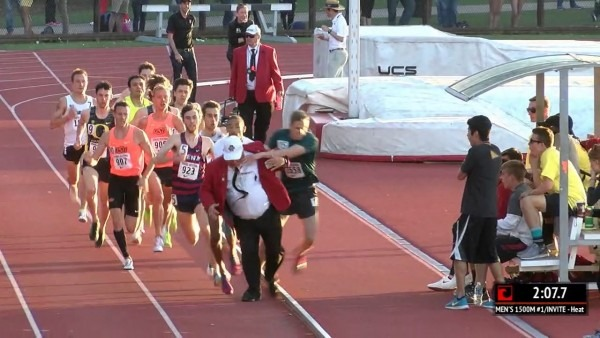 Stanford Invite Track Collision