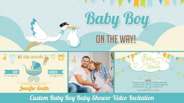 Baby Shower Invitation Baby Boy Personalized Baby Shower