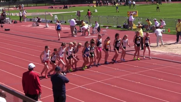Stanford Invitational 2017, Girls Mile, Heat 1