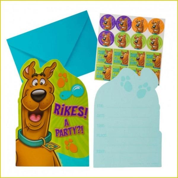 Mesmerizing Scooby Doo Birthday Invitations As Prepossessing Ideas