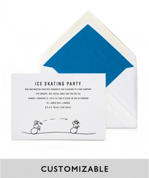 Metro Invitations  Snowball Fight