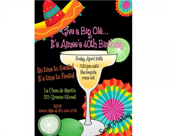 Mexican Party Invitations Mexican Party Invitations With Pretty