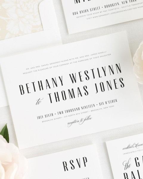 Mid Century Romance Wedding Invitations