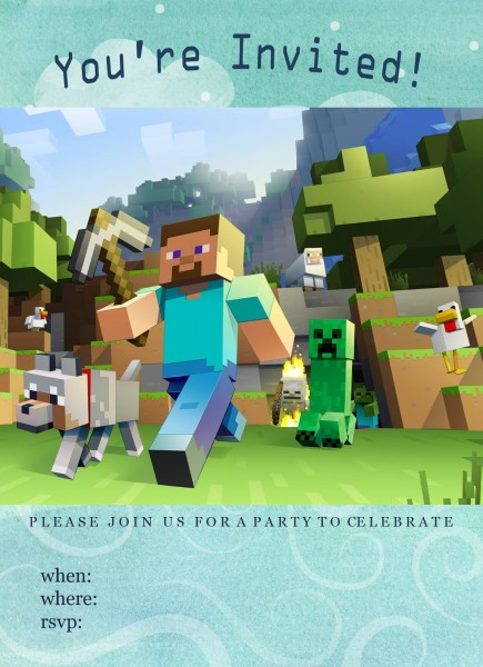Minecraft Birthday Invitation Template Letter Example Of Free