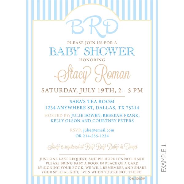 Monogram Baby Shower Invitation
