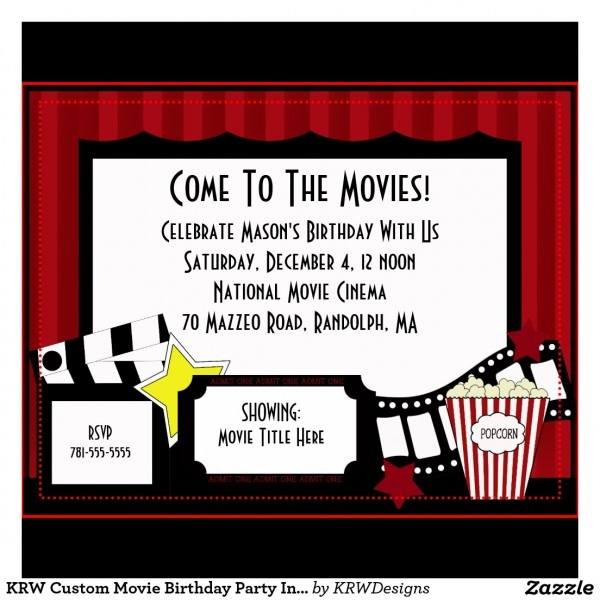 Movie Birthday Party Invitations