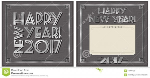 New Year Party Invitation 2017 Stock Illustration
