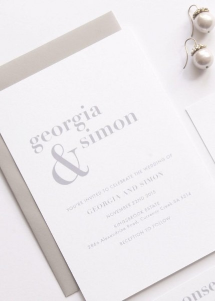 Nice Simple Wedding Invitations Georgia Wedding Suite Deposit