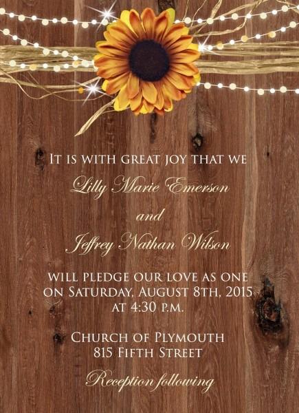 Nice Sunflower Wedding Invitations Sugar And Spice Invitations