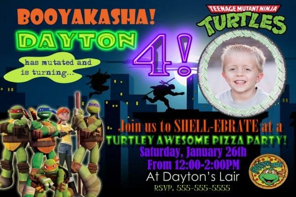 Ninja Turtle Party Invitations Ninja Turtle Party Invitations For