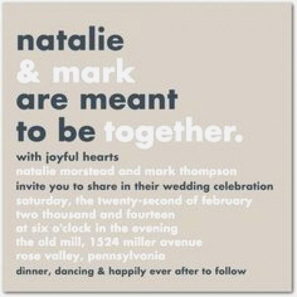 Non Traditional Wedding Invitations Unique Non Traditional Wedding