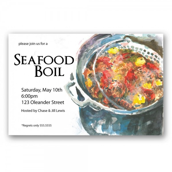 Seafood Boil Invitation []