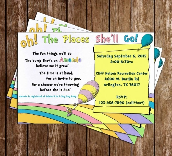 Stylish Oh The Places You Ll Go Baby Shower