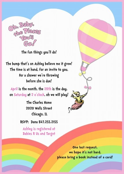 Oh The Places You Ll Go Baby Shower Invitations Yourweek