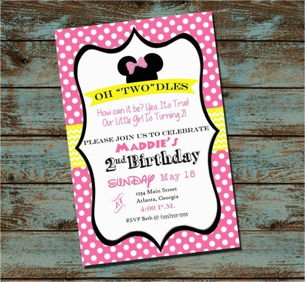 Oh Toodles Birthday Invitations Oh Toodles Minnie Mouse 2nd