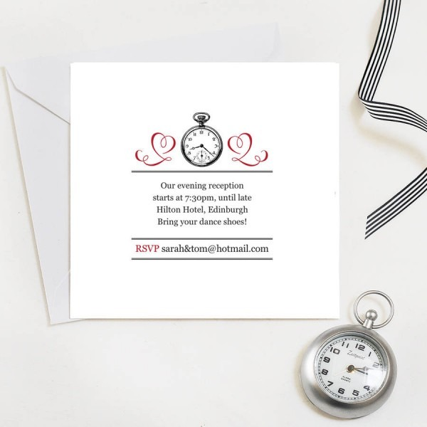 Evening Reception Wedding Invites By Quirky Gift Library