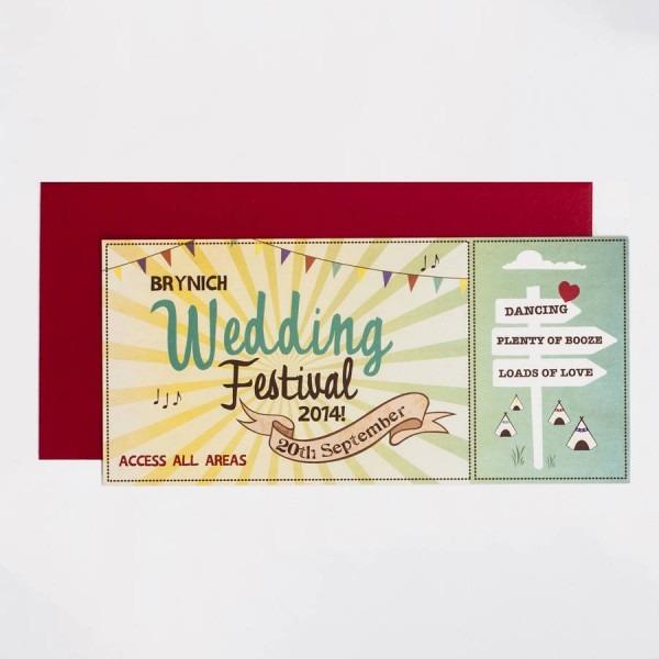 Wedding Festival Wedding Invitation By Something Kinda Cute
