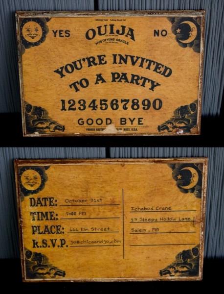 ouija board invitations. Black Bedroom Furniture Sets. Home Design Ideas