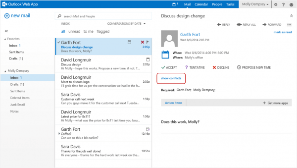 Propose New Time—a New Feature For Outlook Web App In Office 365