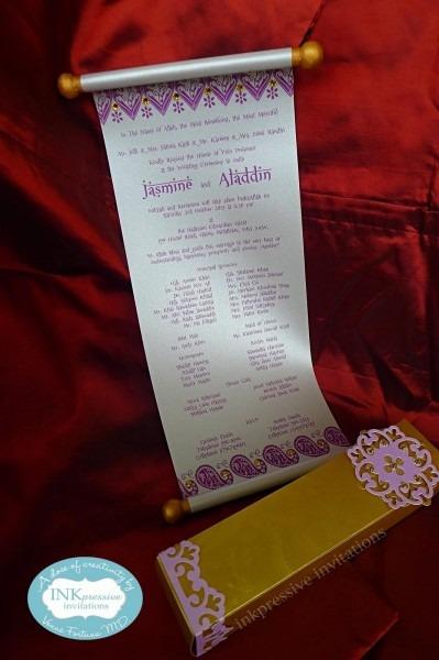 Scroll Wedding Invitation