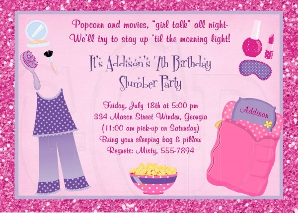 Pajamas Party Invitation Cards From Ildestudio Combined With Chic