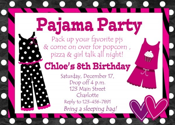Pajamas Party Invitation From Easytygermke And Get Ideas To Create