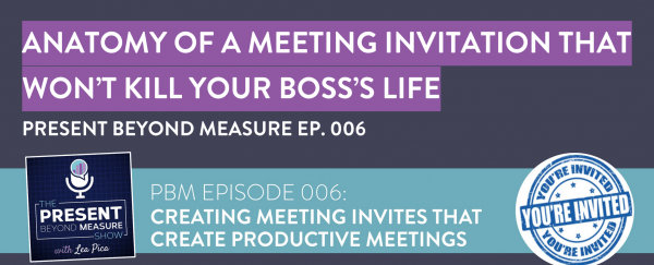 Create Meeting Invitations For Productive Meetings [template]