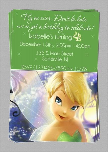 Personalized Tinkerbell Birthday Invitations – Birthdaybuzz