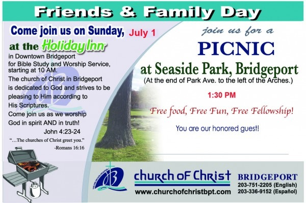 Sunday July 1st Friends & Family Day Picnic