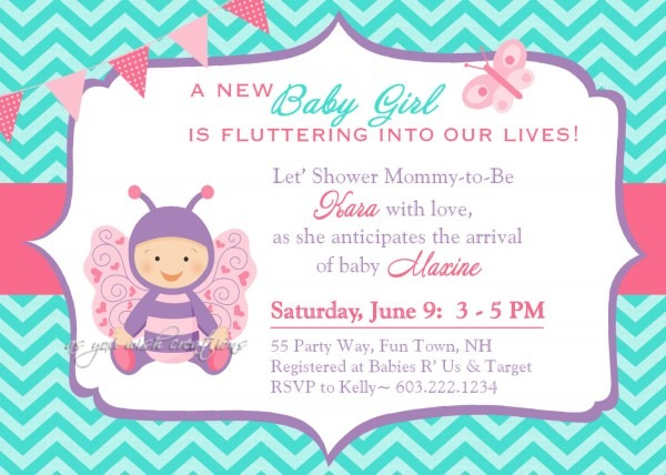 Pink And Blue Baby Shower Invitation Butterfly Baby Shower Thomas