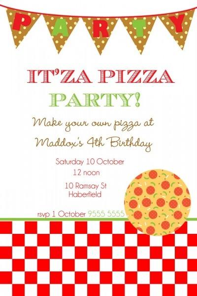 Pizza Party Invite Luxury Pizza Party Invitation Template