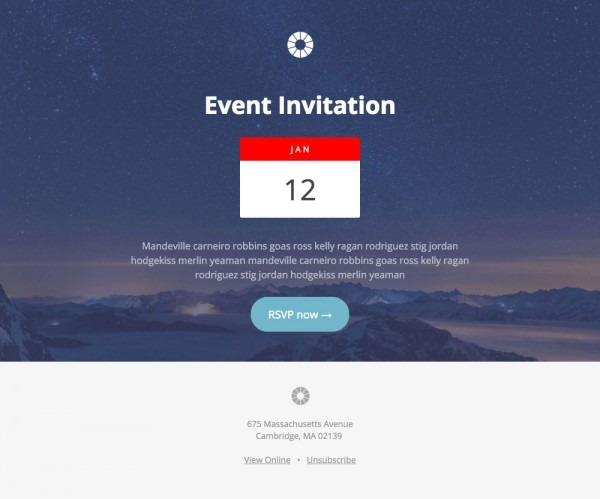 Pook  Event Invitation