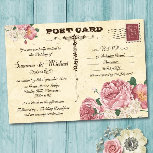 Wedding Ideas  Postcard Wedding Invitations