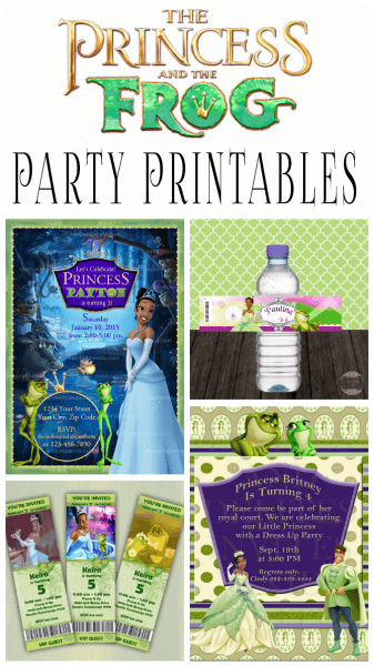 Princess And The Frog Birthday Party Printables