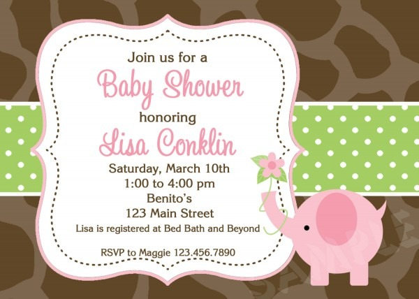 Printable Elephant Baby Shower Invitations My Face Burns After Shower