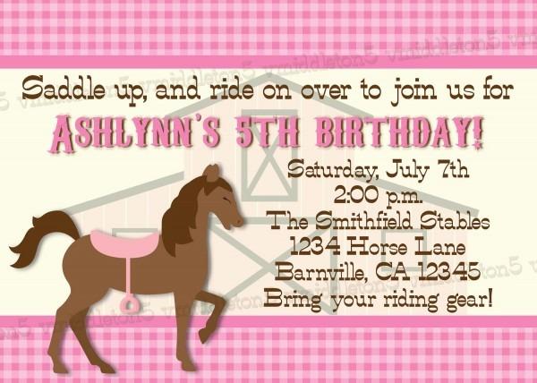 Horsebackinvite Epic Horse Birthday Party Invitations
