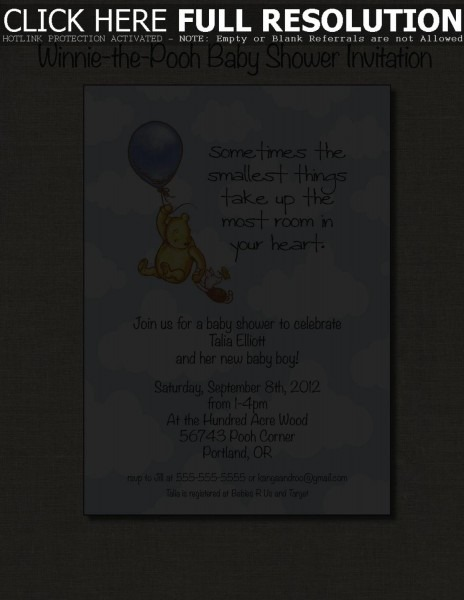 Vintage Winnie The Pooh Baby Shower Invitations Baby Shower Will