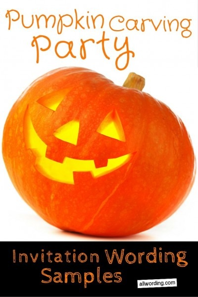 Pumpkin Carving Party Invitation Wording From I To Inspire You How
