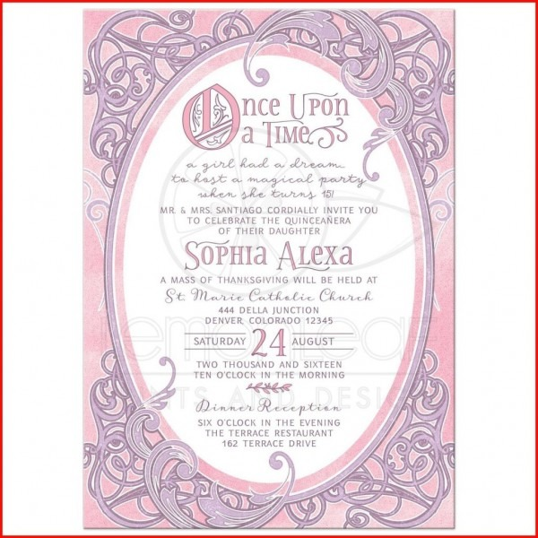Lovely Quince Invitation Wording Pics Of Invitation For Free