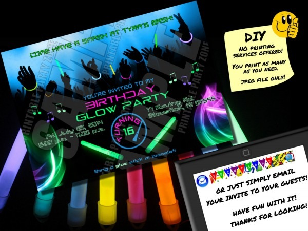 Rave Party Invitations