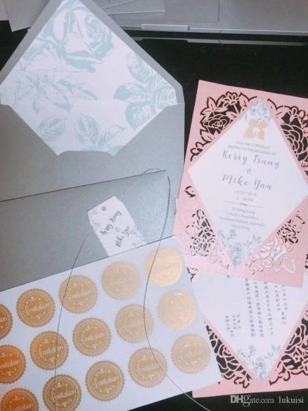Wedding European Style High End Exquisite Custom Invitation 2018