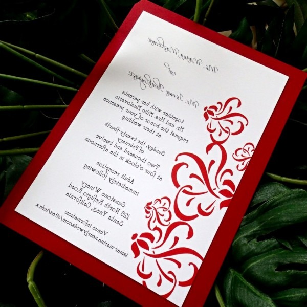 Red And Silver Wedding Invitations Lovely Handmade Wedding