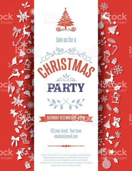 Red Chr Amazing Free Christmas Party Invitation Borders