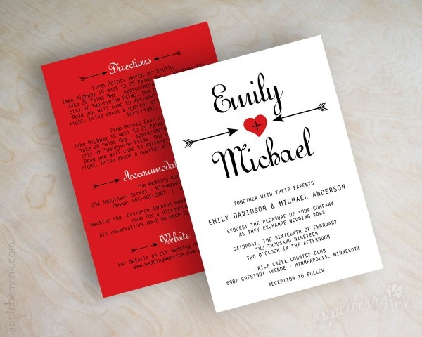 Red Wedding Invitations Red Wedding Invitations For Makes The