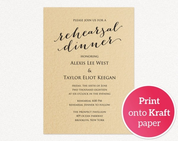 Rehearsal Dinner Invitation Template · Wedding Templates And