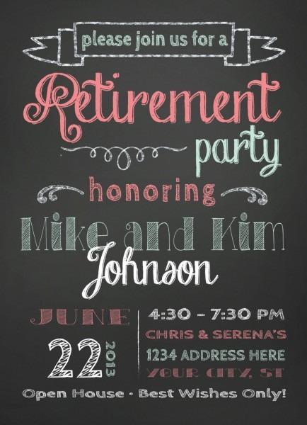 Retirement Open House Invitation Wording