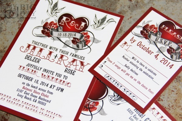 Rockabilly Wedding Invitation Set On Storenvy