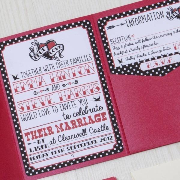 Rockabilly Wedding Invitations Rockabilly Wedding Invitations With